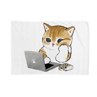 在宅勤務にゃん Blanket