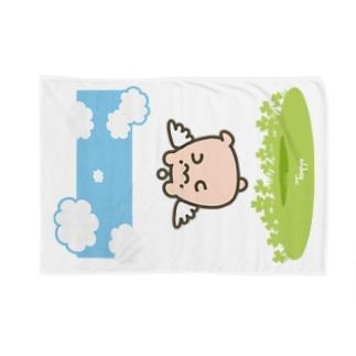 はむてんブランケット(おさんぽ) Blankets