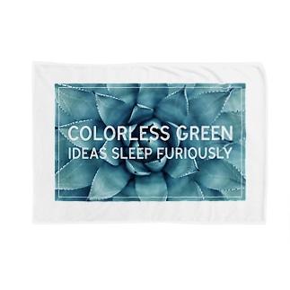 無色の緑色の考えが猛烈に眠る Blankets