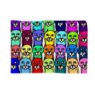 カラフルキモネコ Blankets