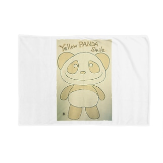 イエローパンダスマイル Blankets