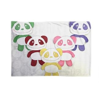 イエローパンダとなかまたち Blankets