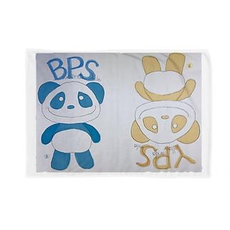 イエローパンダ スマイルのイエローパンダ&ブルーパンダ Blankets