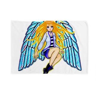 天使アバター ブランケット