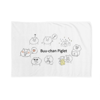 シンプルなぶた Blankets
