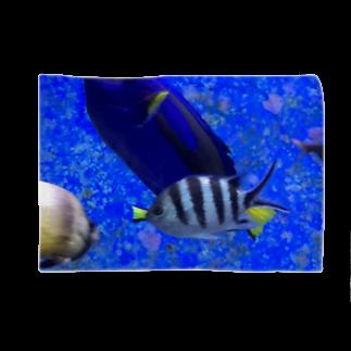 モノトーンなお魚 ブランケット