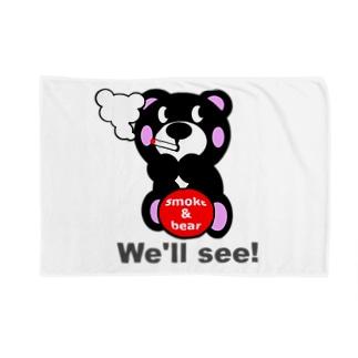一服モクモックマ  黒 オリジナルアイテム Blankets
