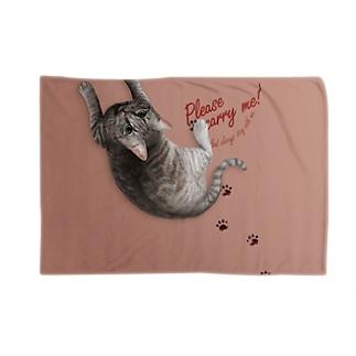 猫を背負えるブランケット Blankets