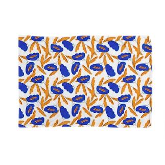 北欧風花柄(blue) Blankets