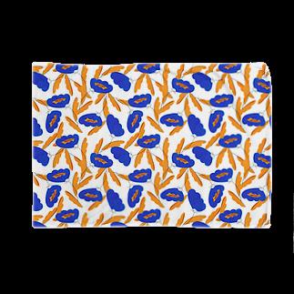 lulupeikkaの北欧風花柄(blue) Blankets
