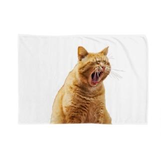 あくびネコ / yawning cat Blanket