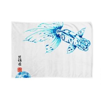【金魚】関東アズマ~青の素描~ ブランケット