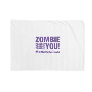Zombie You!(purple print) Blankets