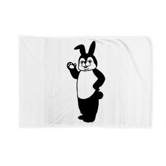 うさぎシルエットデザイン Blankets