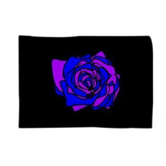 パープルブルー薔薇💜💙🌹 Blankets