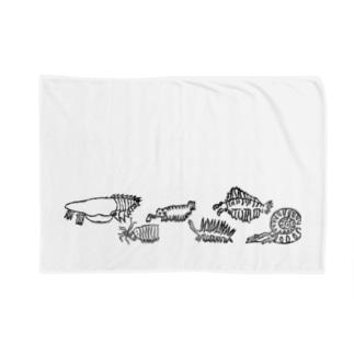 古代生物たち ライン Blanket