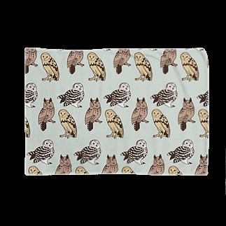 ななめやの三羽フクロウ Blankets