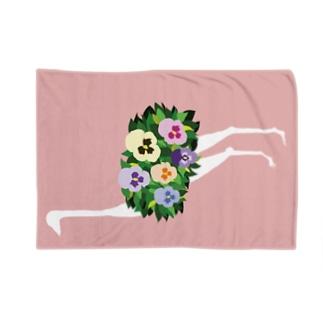 ダチョウ(パンジー) Blankets