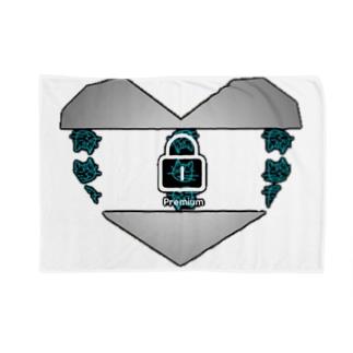 ウドンゴリラネコ ハートロゴ。 Blankets