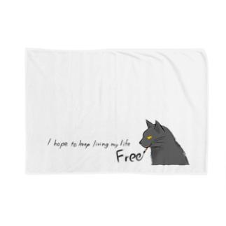 筆ネコ Blankets
