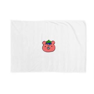 いまじゅくま(顔・ロゴなし) Blankets