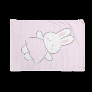 ふんわりうさちゃんのブランケット ピンク Blankets