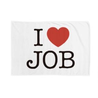 I LOVE JOB Blankets