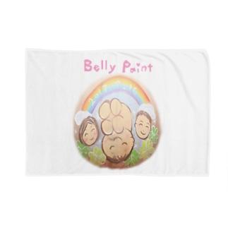 虹と赤ちゃんのベリーペイント ブランケット