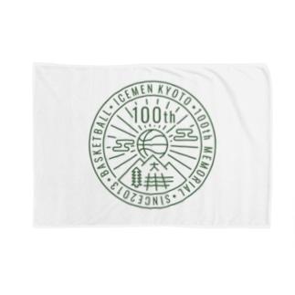 icemen kyoto 100th / white base ブランケット
