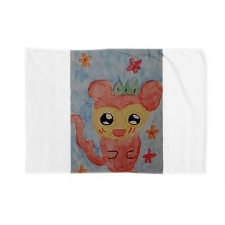愛らしいリスザル Blankets