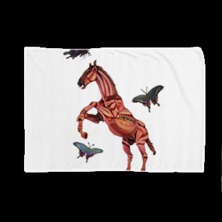 波田野剛望(はたのたけみ)の馬と蝶 Blankets