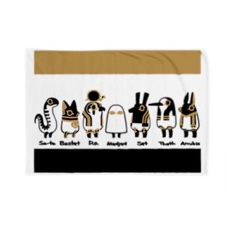 とーとつにエジプト神 名前付き 7柱 ブランケット