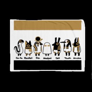 yukaのとーとつにエジプト神 名前付き 7柱ブランケット