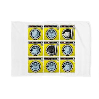 コインランドリー Coin laundry【3×3】 ブランケット