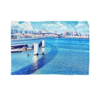 東京の景色(レインボーブリッジ) Blankets