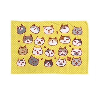 ネコネコブランケット(黄色) Blankets