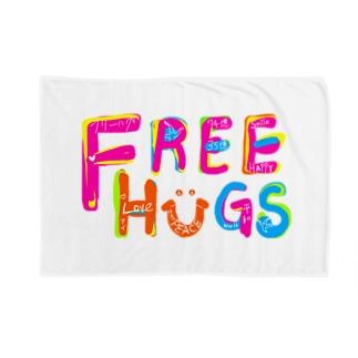 フリーハグ/FREE HUGS ブランケット