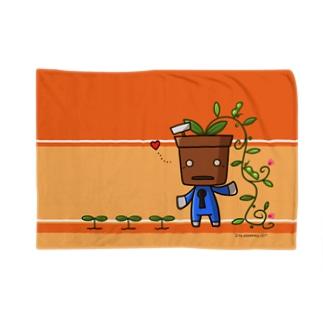 植木デコはちろー Blankets