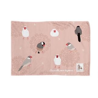 文鳥さん ピンク Blankets