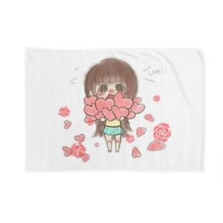 佳谷。のバラと女の子 Blankets