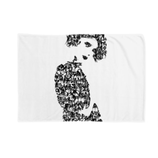 woman's face#2 Blankets