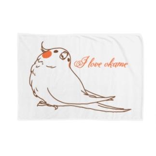 I  LOVE オカメ Blankets