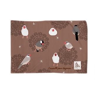 文鳥さん チョコ Blanket