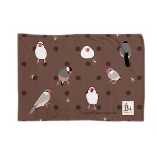 文鳥さん ショコラ Blankets