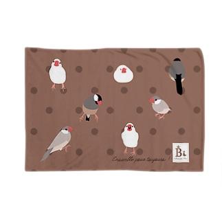 文鳥さん ミルクココア Blankets