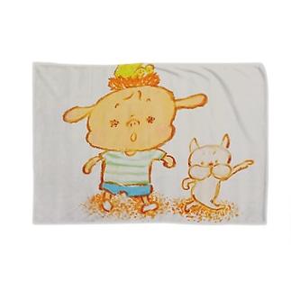 おひっこし Blankets