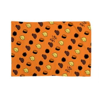 秋うかの犬とうに3(オレンジ) Blankets