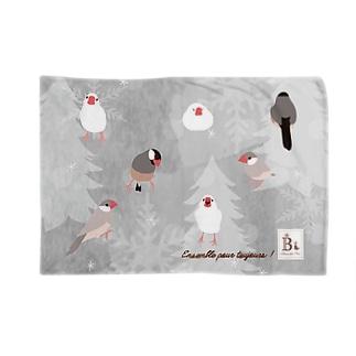 文鳥さん グレー Blankets