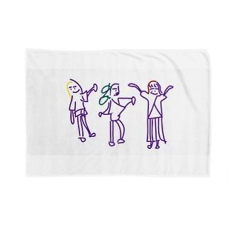 三人娘の陽気な毎日 Blankets
