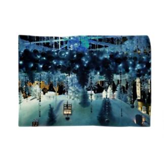 Ribbon-corsage*のブルークリスマス Blankets